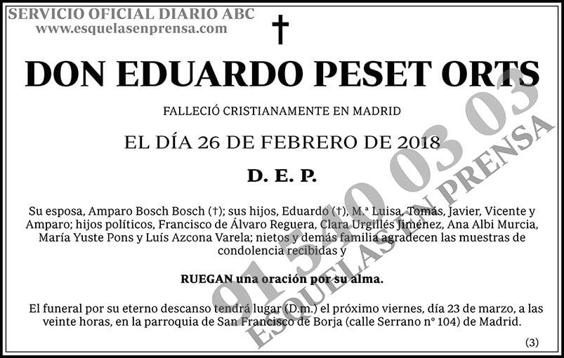 Eduardo Peset Orts